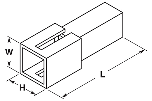 Flachsteckergehäuse 2,8 - 1-polig (10 Stk.)