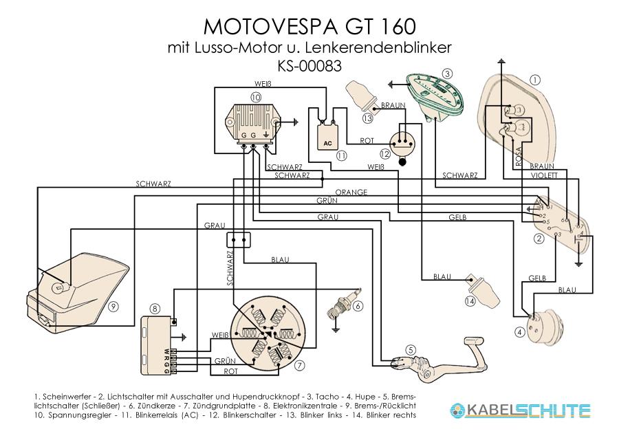 Wiring Harness Motovespa GT 160 Conversion