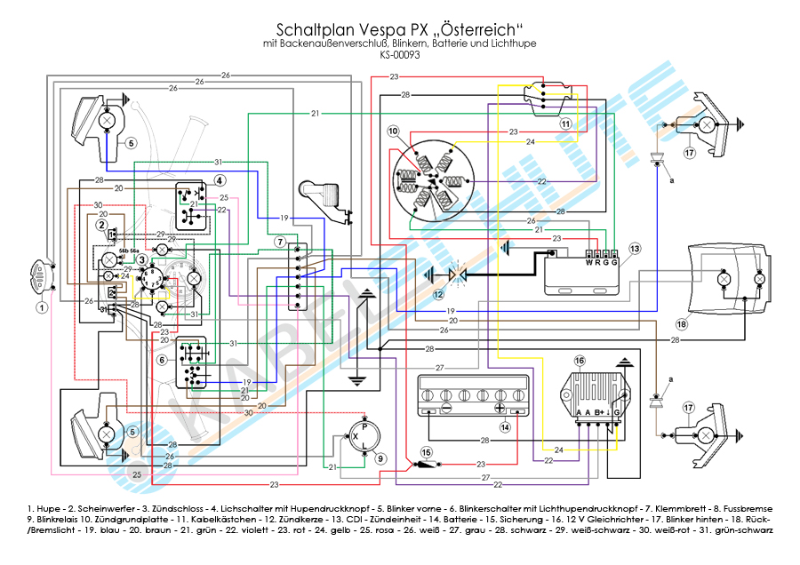 329_3 wiring harness vespa px old austria (set) vespa sprint wiring diagram at cos-gaming.co