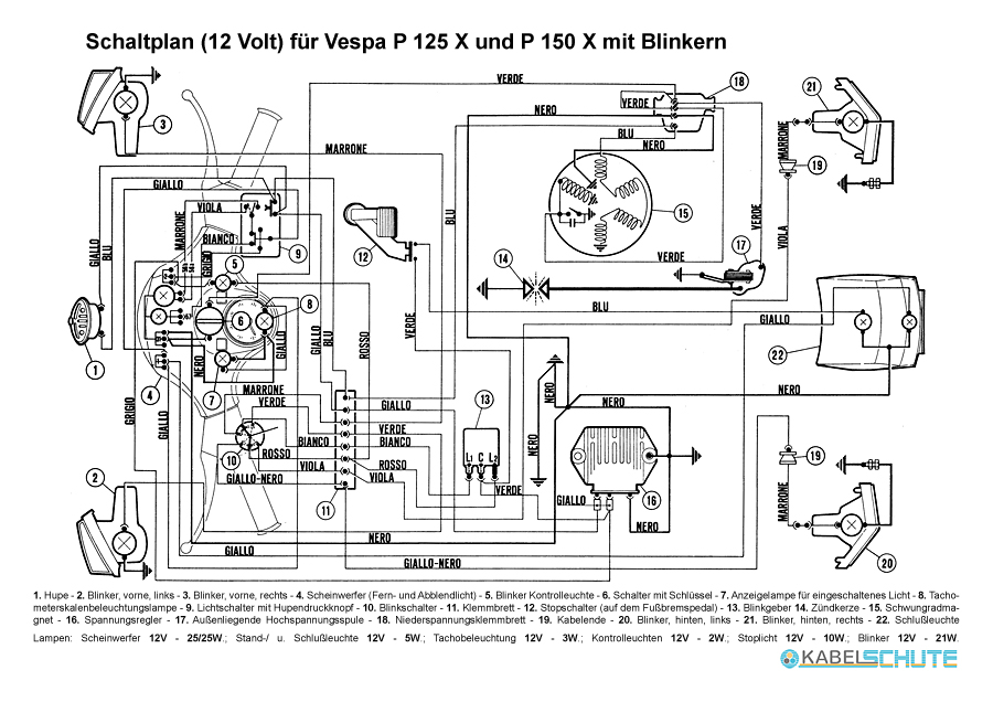 3_2 wiring harness vespa px old (set) vespa px 150 wiring diagram at bakdesigns.co