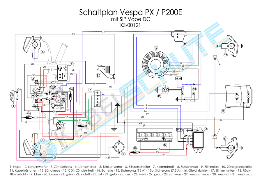 Wiring Harness Vespa Px Old With Sip Vape Dc Main