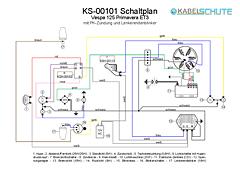 Kabelbaum Vespa 125 Primavera ET3 (VMB1T) Conversion