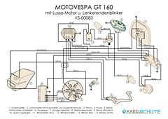 Kabelbaum Motovespa GT 160 Conversion