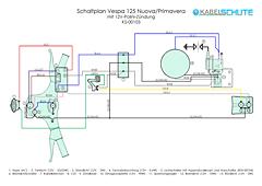 Kabelbaum Vespa 125 Primavera (VMA1/2T) Conversion