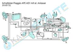 Kabelbaum Set Ape AD1 (mit E-Starter)
