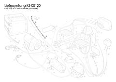 Kabel Anlasser Ape AD1 (mit E-Starter)