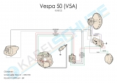 Kabelbaum Vespa 50