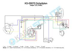 Wiring Harness Vespa 125 (VNB4)