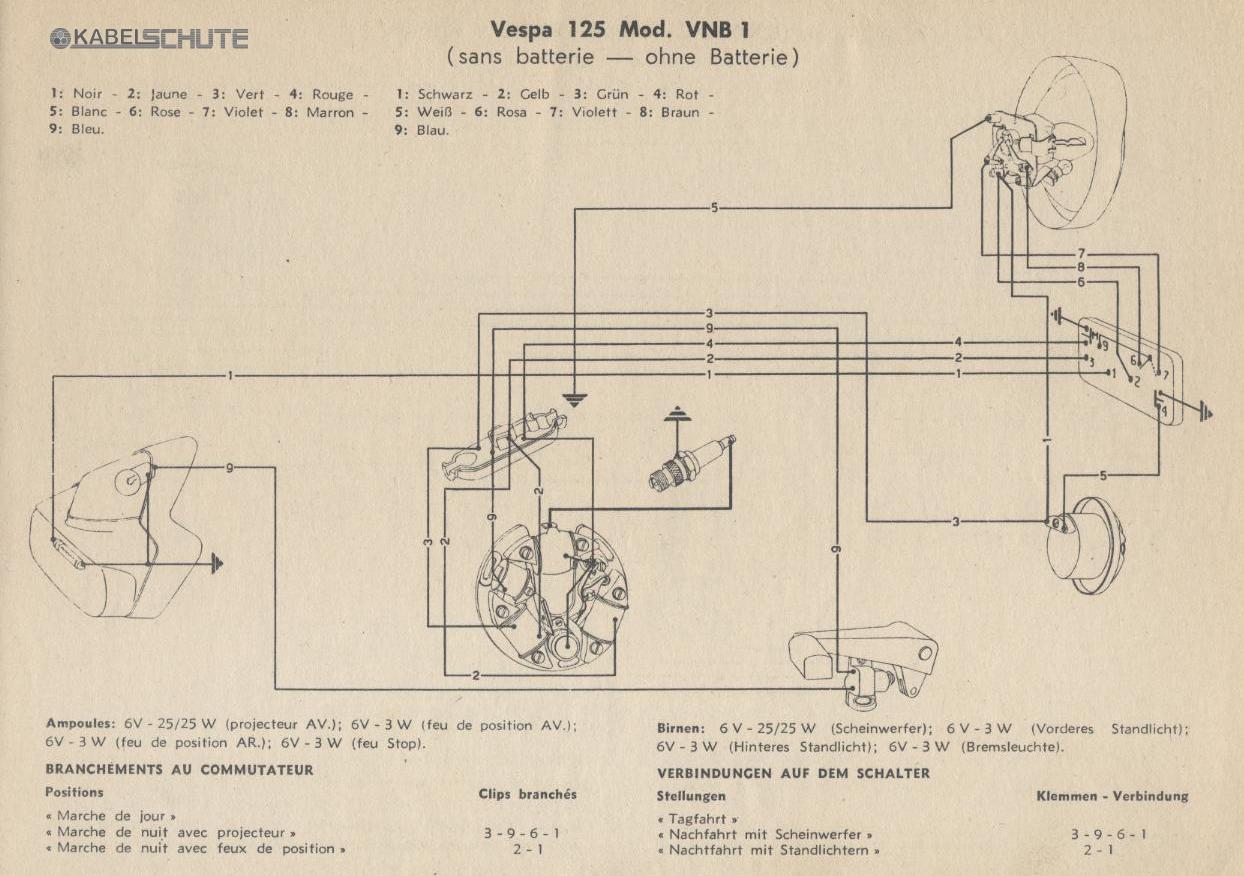 Wiring Diagrams Vespa Vna Diagram