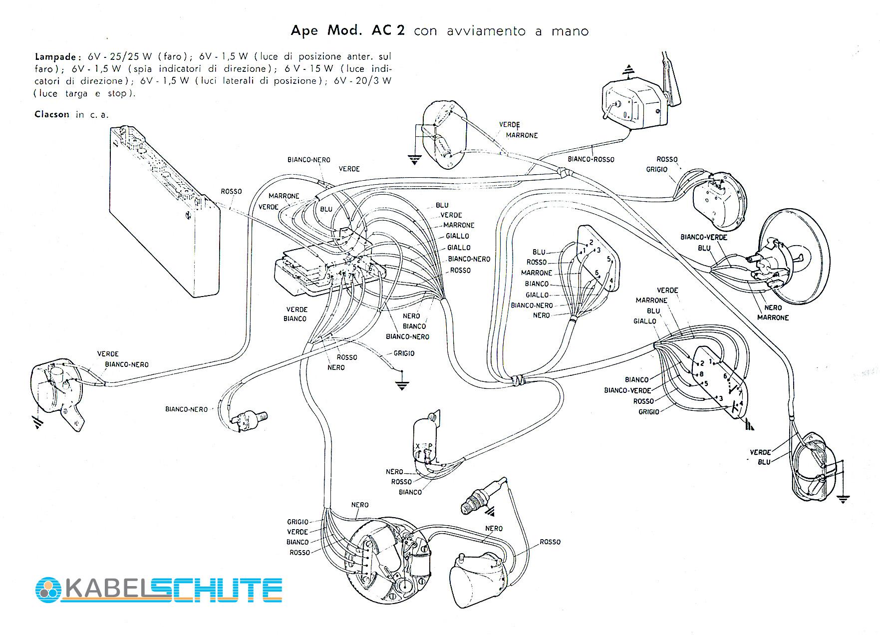 Schaltplan Ape 50 Zapc80