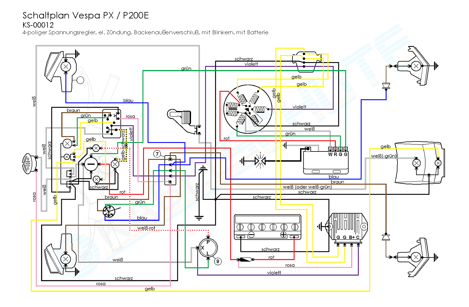 wiring diagrams wiring diagrams rh kabel schute de Vespa GT200 Wiring-Diagram Only Vespa Light Switch Wiring Diagrams