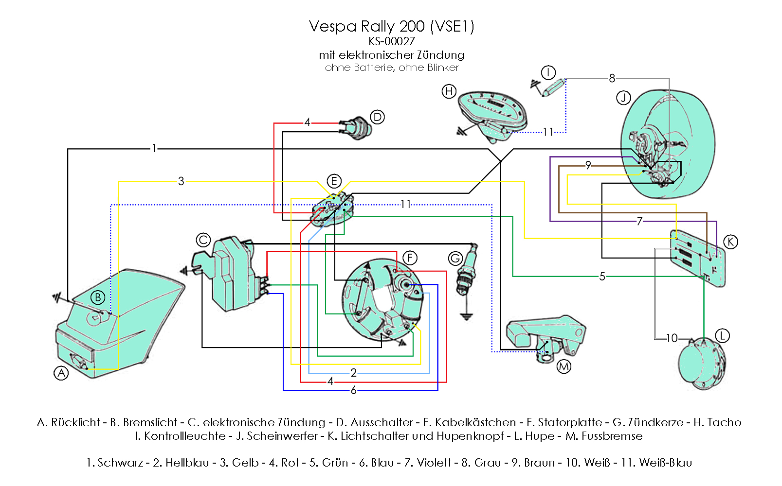 Wiring Diagrams Ducati 200 Diagram