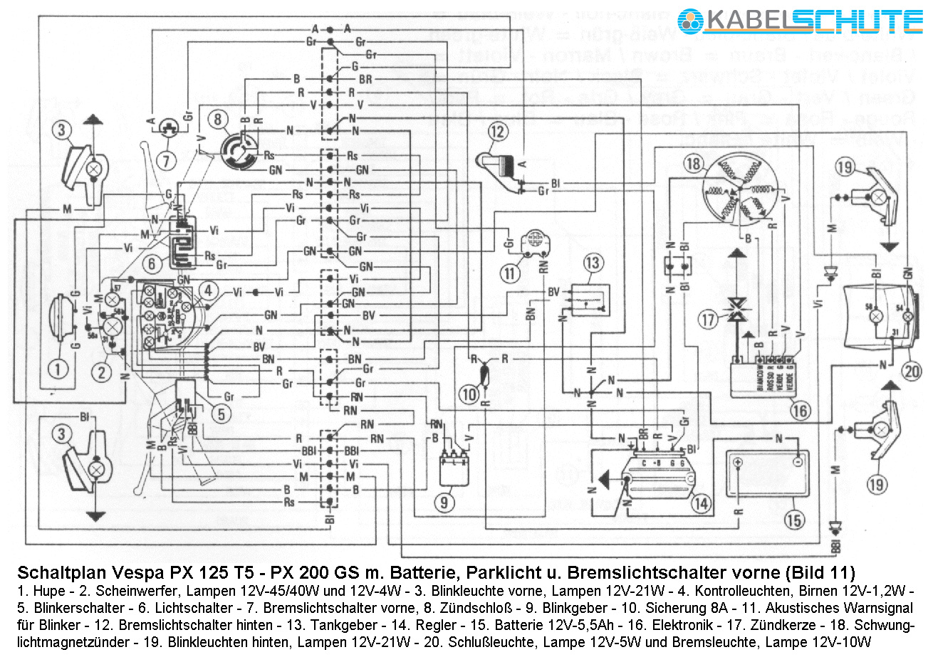 vespa px 200 wiring diagram wire center u2022 rh haxtech me