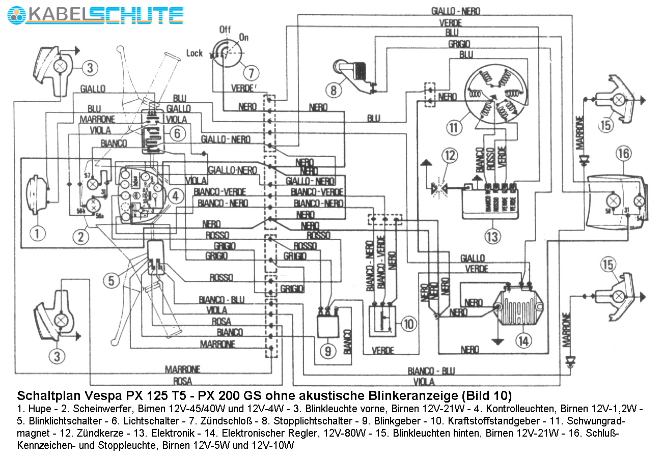 Vespa Px 200 Wiring Diagram 27 Images Vba Diagrams Schaltplan T5 Ohne Akustik At