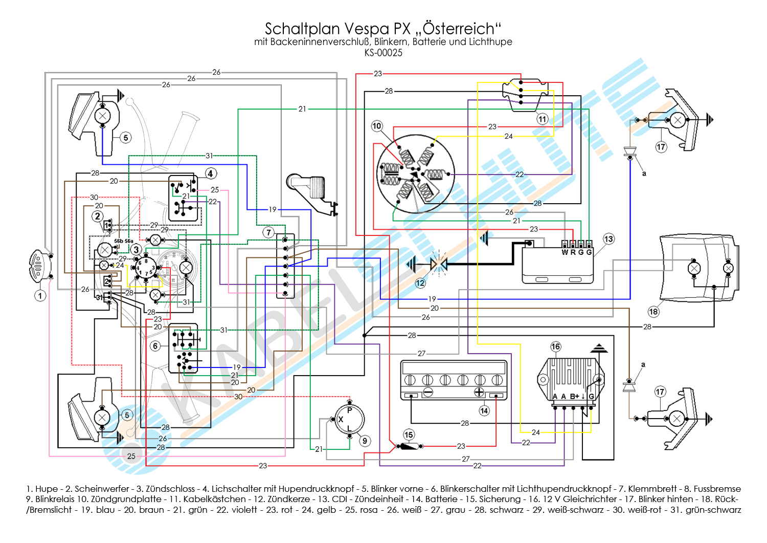 ... Wiring Diagrams Wiring Diagrams 50Cc Wiring Diagram Vespa Wiring Diagram  Px