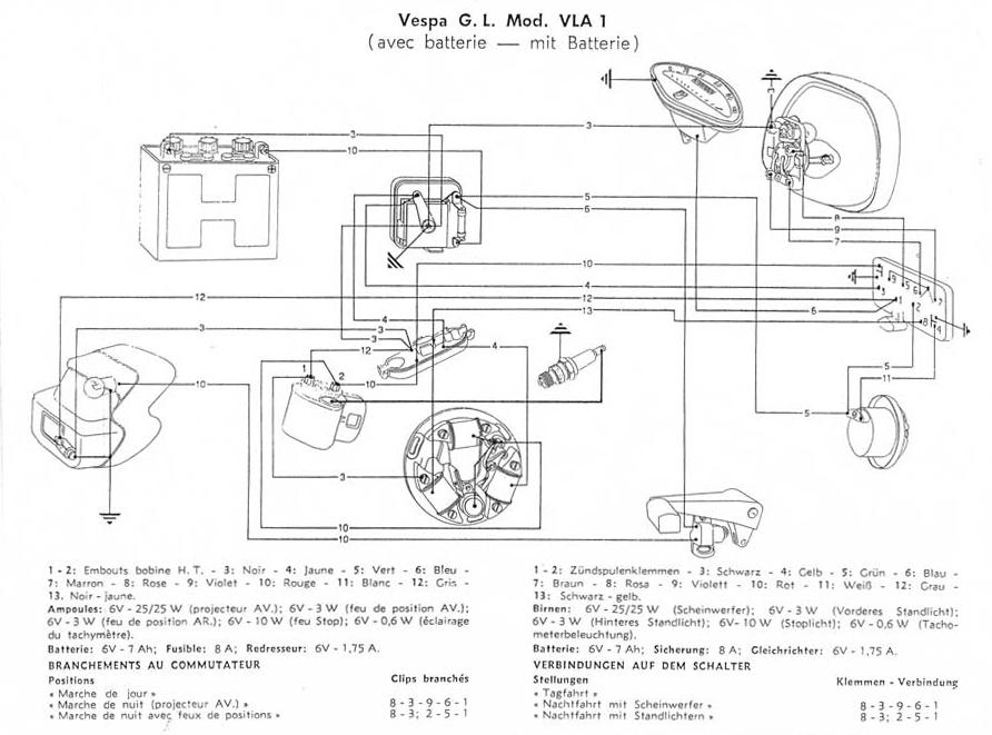wiring diagrams wiring diagrams rh kabel schute de Vespa GT200 Ignition Wiring-Diagram Vespa P200 Wiring-Diagram