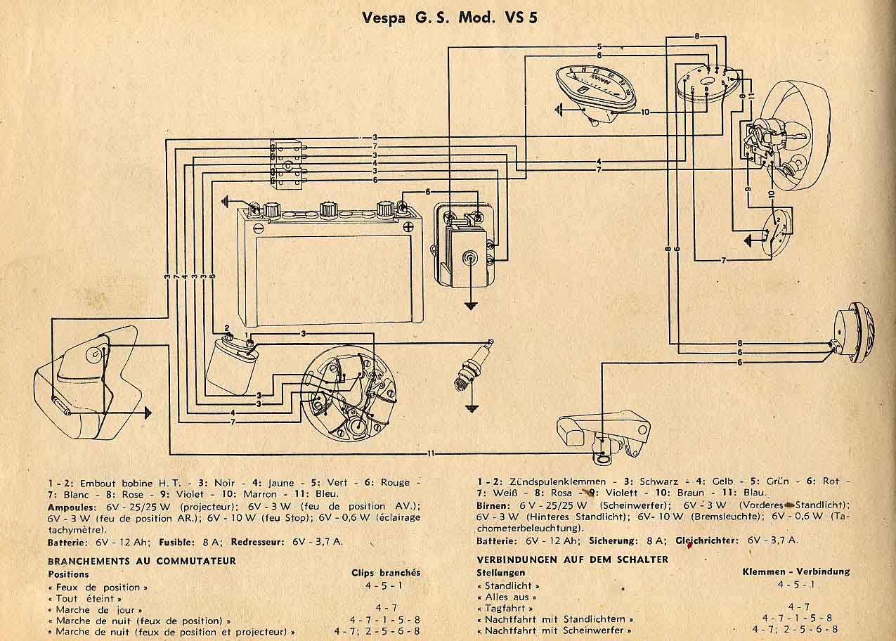 Wiring Diagrams Vespa Gl Diagram