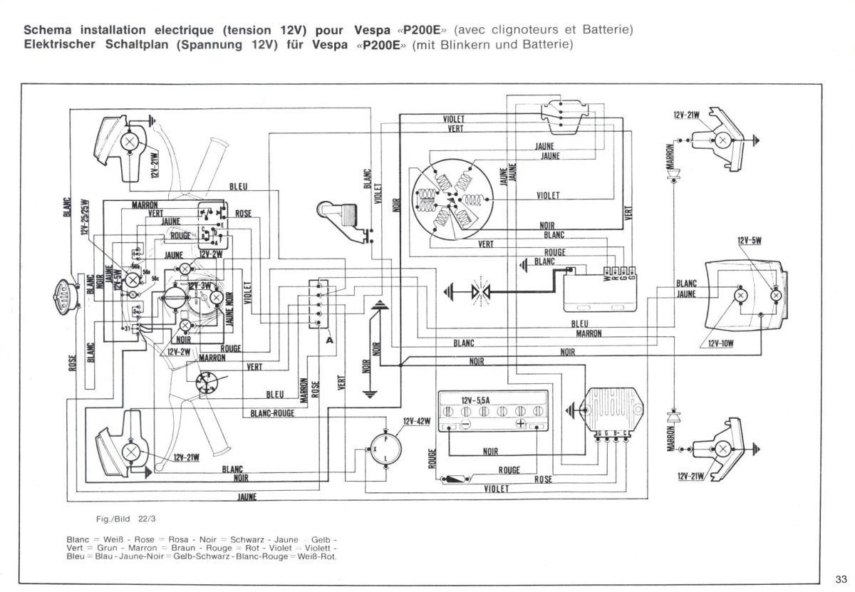 Wiring Diagrams Basic Vespa 12v Wire Diagram