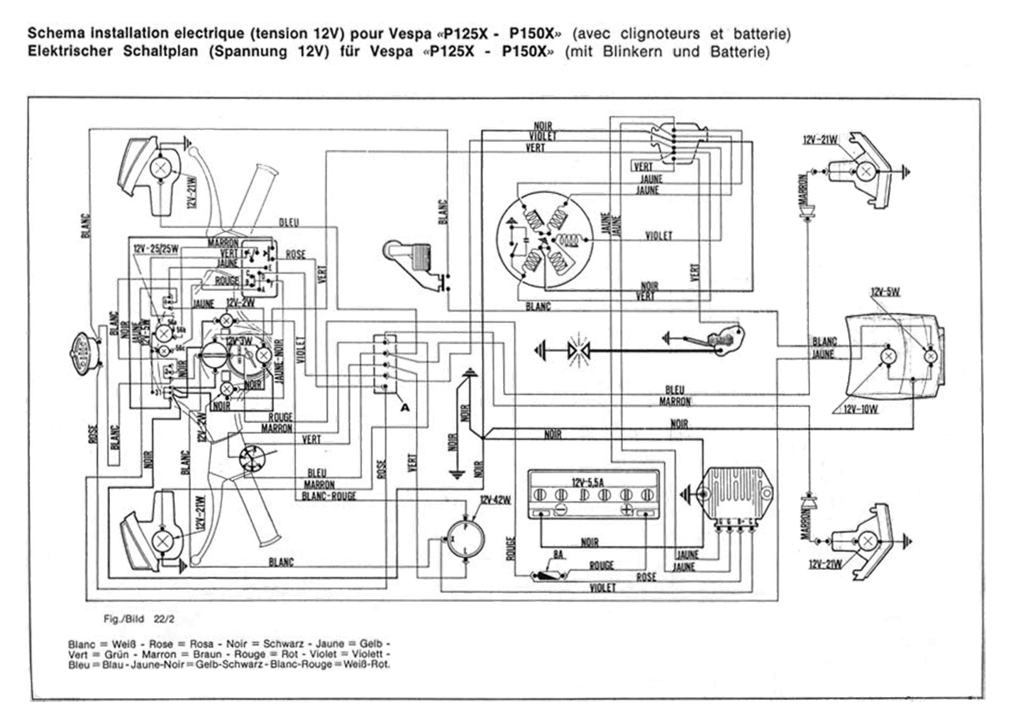 px125 150_12v_mit_blinker_und_batterie wiring diagrams wiring diagrams vespa px 150 wiring diagram at bakdesigns.co