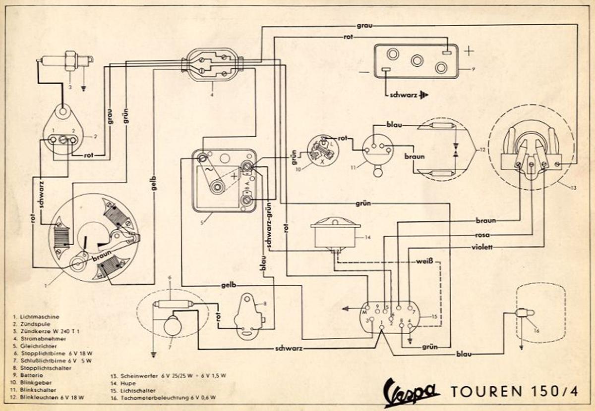 Wiring Diagrams Vespa Pk Diagram